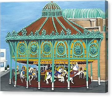 Asbury Park Carousel IIi Canvas Print