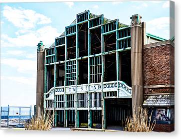 Asbury Park Casino - My City In Ruins Canvas Print by Bill Cannon