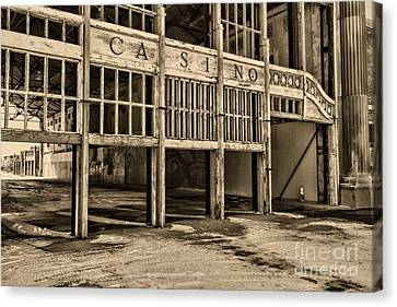 Asbury Park Casino Canvas Print - Asbury Park Casino by Paul Ward