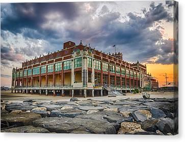 Asbury Park Casino Canvas Print - Asbury Park by Kristopher Schoenleber