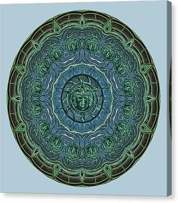 Asbury Park Nj Carousel Kaleidoscope Canvas Print