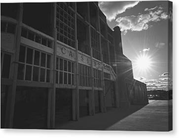 Asbury Park Casino Canvas Print - Asbury Park Nj Casino Black And White by Terry DeLuco