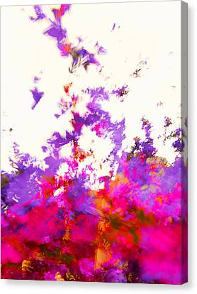 Canvas Print featuring the photograph Ascending Floral Abstract by Paul Cutright