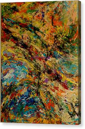 Ascension Abstraction Canvas Print by Barb Greene mann