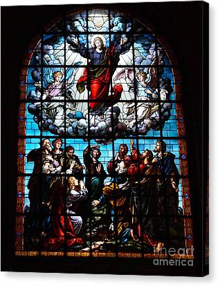 Ascension Of Christ Stained Glass Canvas Print