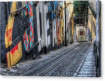 Ascensor Do Lavra Lisbon Canvas Print