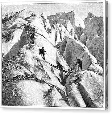 Ascent Of Mont Blanc Canvas Print by Science Photo Library