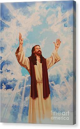 Ascention Of Jesus Canvas Print by Heidi E  Nelson