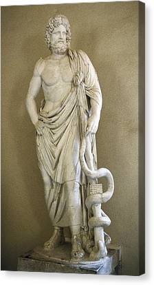 Asclepius. 4th C. Bc. Classical Greek Canvas Print