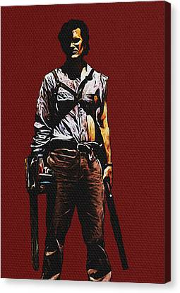 Canvas Print featuring the painting Ash by Jeff DOttavio