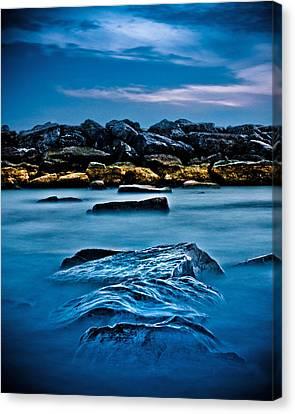 Ashbridges Bay Toronto Canada Breakwall 4 Canvas Print by Brian Carson