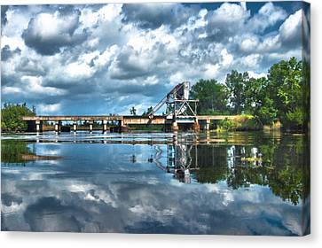 Ashepoo Train Trestle Canvas Print