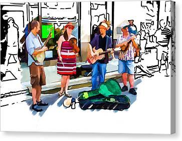 Asheville Buskers Canvas Print