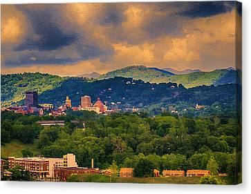 Asheville North Carolina Canvas Print by John Haldane