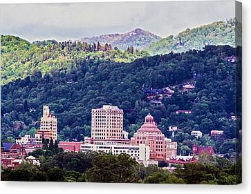 Asheville Painted Canvas Print by John Haldane