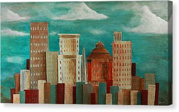 Asheville Skyline Canvas Print by Gray  Artus