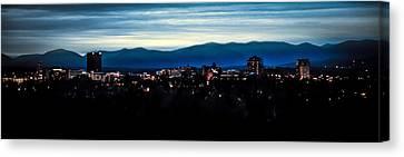 Asheville Skyline Canvas Print