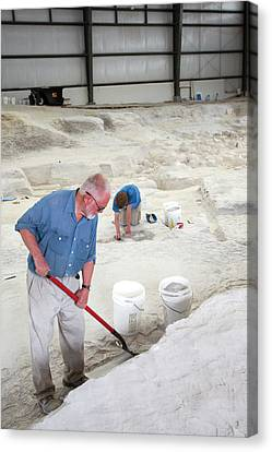 Ashfall Fossil Beds Excavation Canvas Print by Jim West