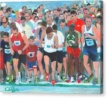 Ashland Half Marathon Canvas Print by Cliff Wilson