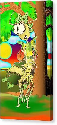 Ashley The Ambush Bug Canvas Print