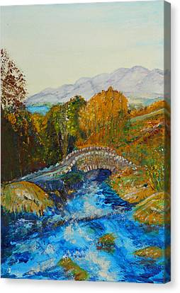 Ashness Bridge - Painting Canvas Print by Veronica Rickard