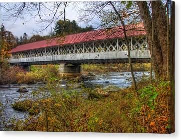 Ashuelot Covered Bridge 4 Canvas Print by Joann Vitali