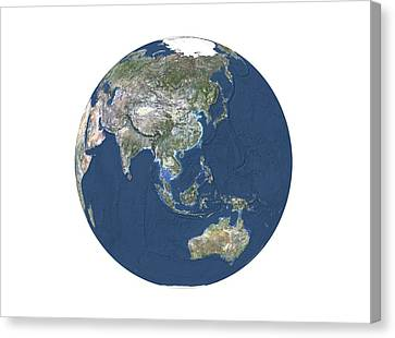 Asia And Australasia, Relief Map Canvas Print