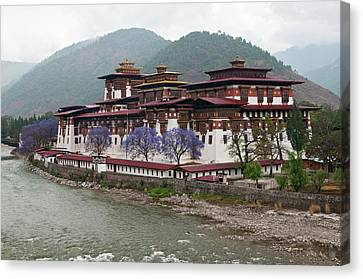 Asia, Bhutan Exterior View Of Punakha Canvas Print by Jaynes Gallery