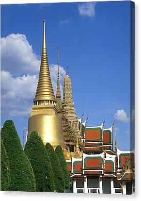 Asia, Thailand, Bangkok, Grand Palace Canvas Print by Tips Images