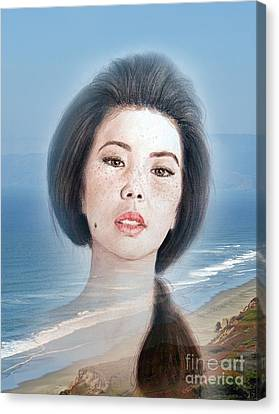 Asian Beauty Fade To Ocean Photograph Canvas Print by Jim Fitzpatrick