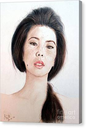 Asian Beauty Canvas Print by Jim Fitzpatrick