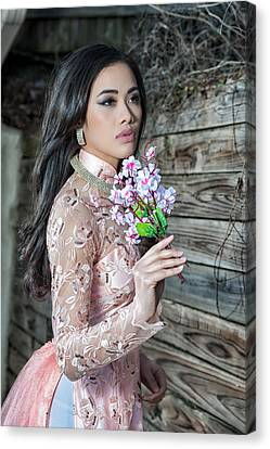 Asian Beauty Canvas Print by Oleg Koryagin