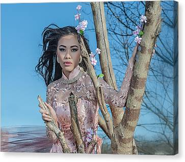 Asian Blossom Canvas Print by Oleg Koryagin