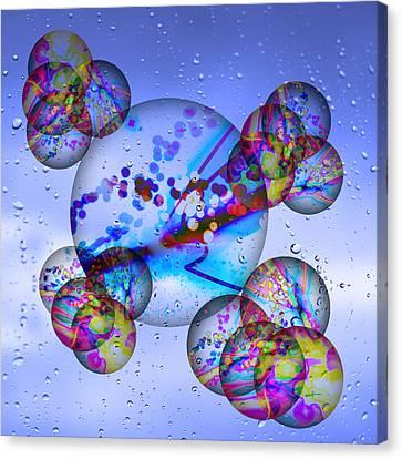 Asian Bubbles In Rain Canvas Print