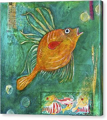 Asian Fish Canvas Print by Bellesouth Studio