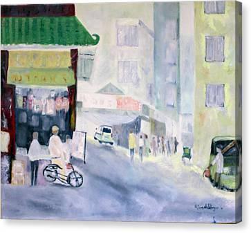 Asian Street Traffic Canvas Print