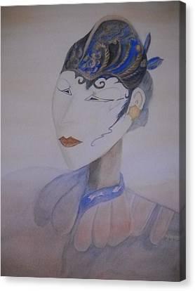 Asian Mask Canvas Print by Marian Hebert