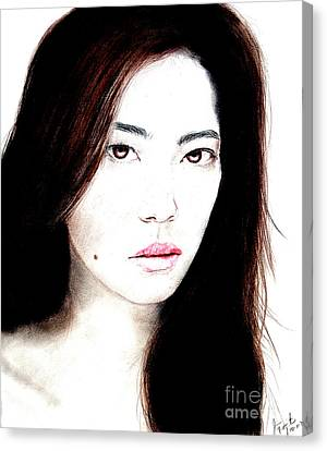 Asian Model II Canvas Print by Jim Fitzpatrick