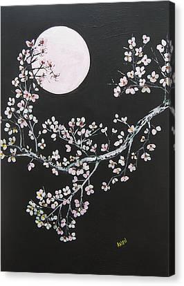 Asian Moon Canvas Print