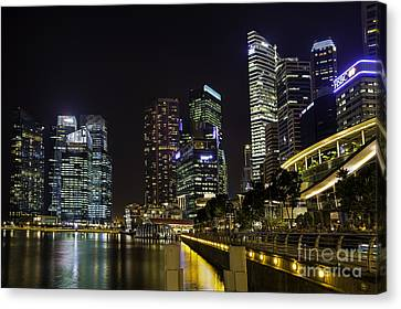 Asian Neons Canvas Print by Pete Reynolds