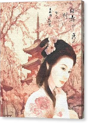 Asian Rose Canvas Print by Mo T