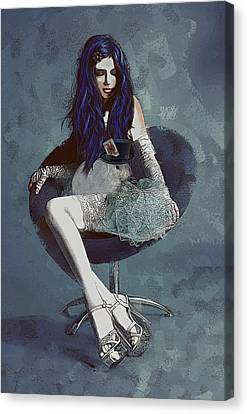 Canvas Print featuring the digital art Ask Alice by Galen Valle