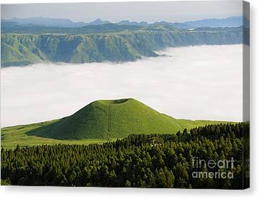 Canvas Print featuring the photograph Aso Komezuka Sea Of Clouds Cloud Kumamoto Japan by Paul Fearn