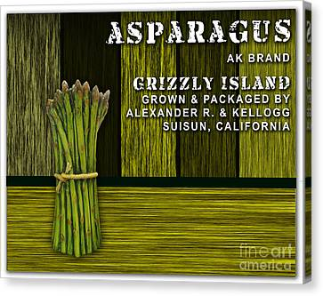 Asparagus Farm Canvas Print by Marvin Blaine