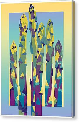 Asparagus Gradient Canvas Print
