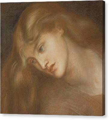 Aspecta Medusa Canvas Print by Dante Charles Gabriel Rossetti