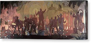 Aspects Of Negro Life Canvas Print by New York Public Library/aaron Douglas