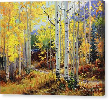 Rocky Mountain Canvas Print - Aspen Cabin by Gary Kim