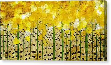 Aspen Colorado Abstract Panorama Canvas Print by Andee Design