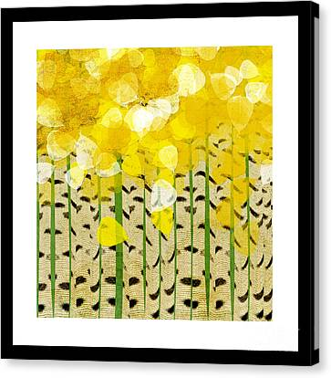Aspen Colorado Abstract Square Canvas Print by Andee Design